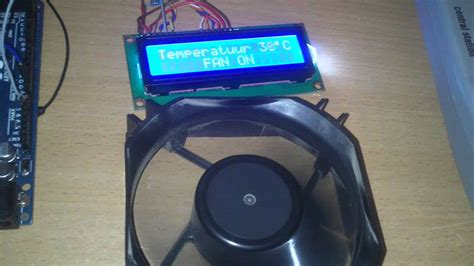 Arduino Fan control with temperature - YouTube