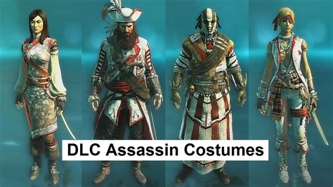 AC4 Multiplayer Assassin Costumes for DLC characters