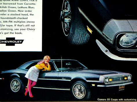 1968 CHEVY CAMARO SS print AD/poster/picture/sign-RS/Z28