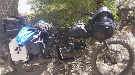 Motoped Survival 125cc with Bug Out Kit - YouTube