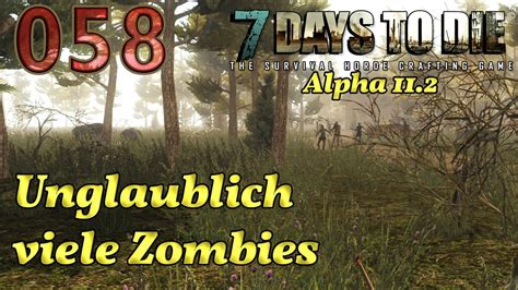 7 DAYS TO DIE #058 - Unglaublich viele Zombies Let's Play
