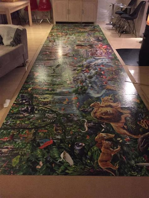 This Girl Just Finished The World's Largest Jigsaw Puzzle