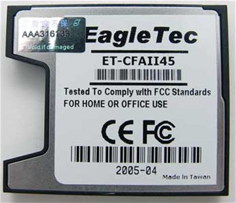 EagleTec SD to CF II Card Adapter – The Gadgeteer