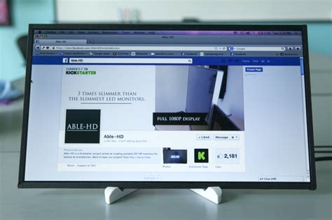 Able-HD: Portable HD Monitor for Laptop & Smartphones (DIY
