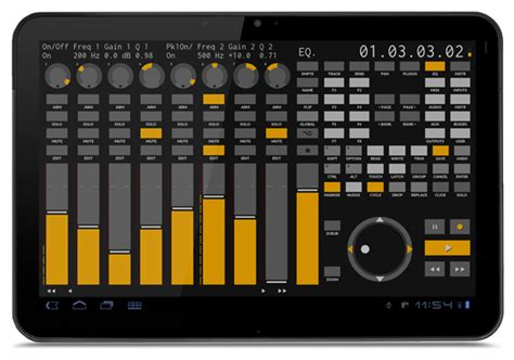 Controller : Bitwig and a tablet : Android, iOS,