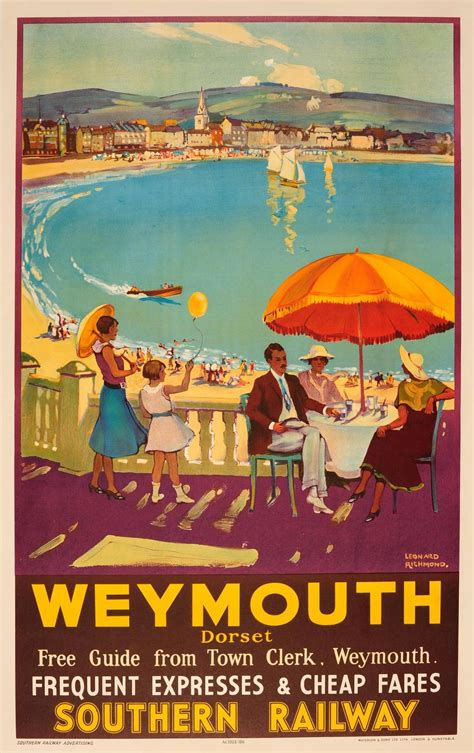 1935 Southern Railway Travel Advertising Poster For